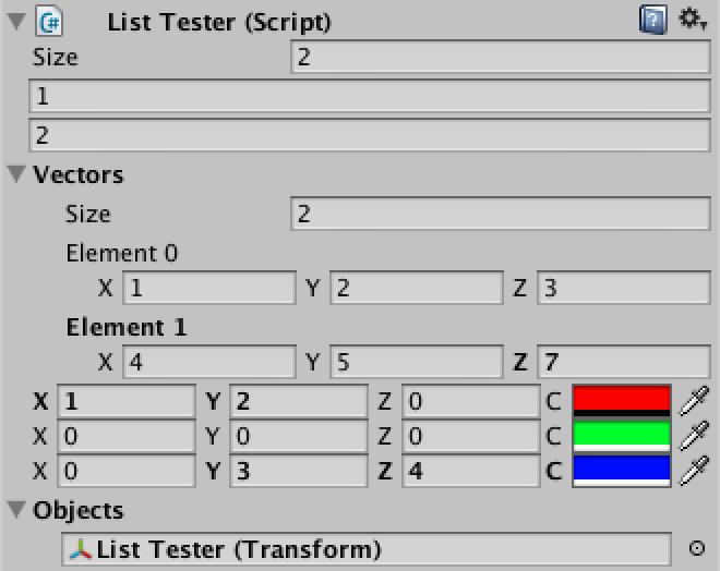 Custom List, a Unity C# Editor Tutorial