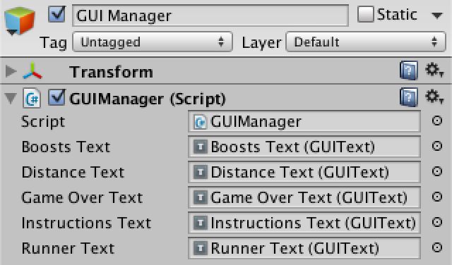 how to make gui manager unity