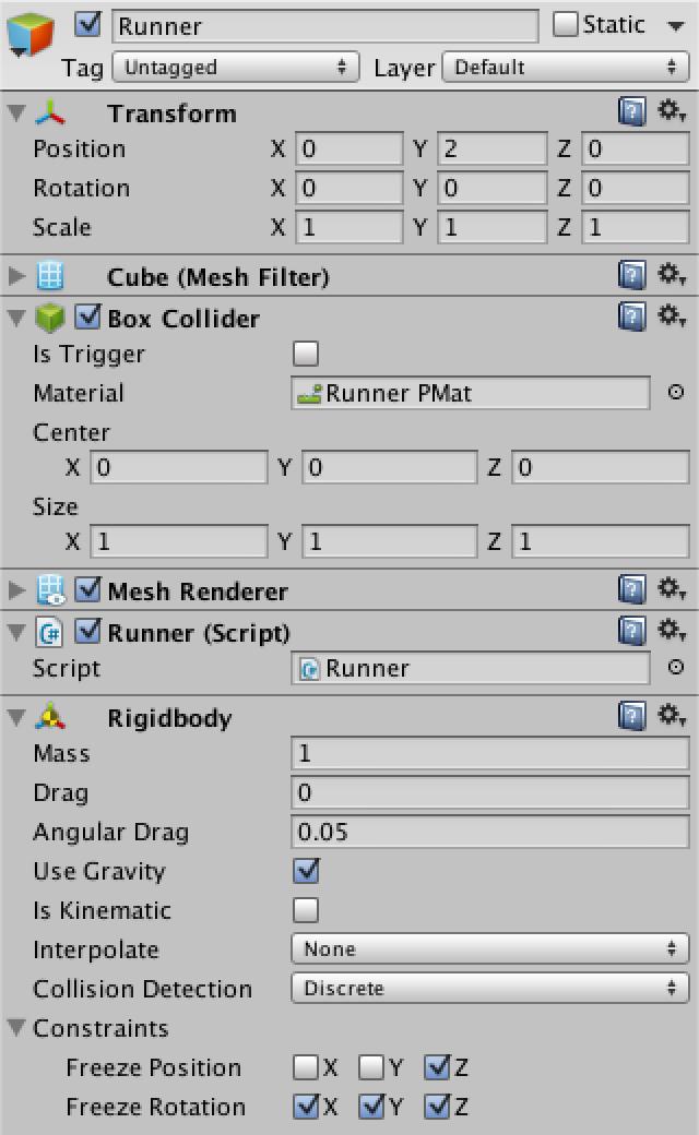 Runner, a Unity C# Tutorial